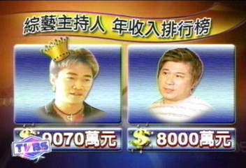 主持人收入排行榜 吳宗憲近億排第一
