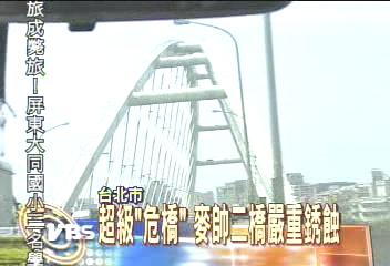 超級「危橋」 北市麥帥二橋嚴重銹蝕