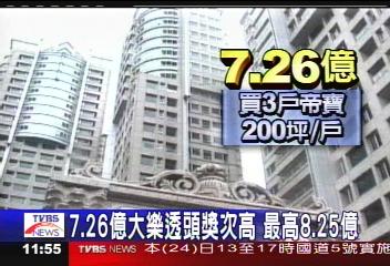 7.26億大樂透頭獎次高 最高8.25億