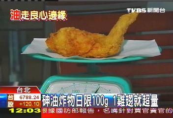 油炸油/砷一天只能吃100g 1雞翅就超量