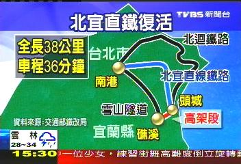 580億解雪隧車 北宜直鐵恐復活
