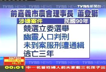 蕭登獅遭捕! 晚間10點抵台東監獄