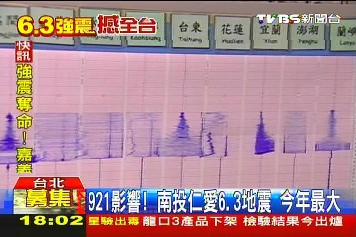 南投強震/921影響!南投仁愛6.3地震 今年最大