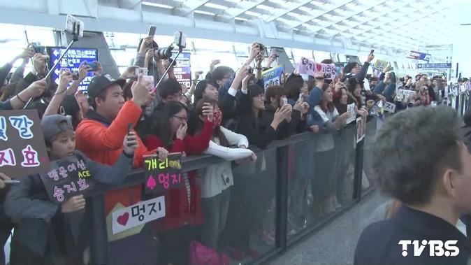 《Running Man》宋智孝抵台 300名粉絲搶接機