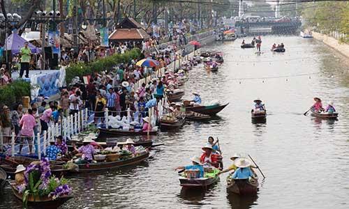 不需去郊外!曼谷水上市場新開幕 搭地鐵嘛ㄟ通