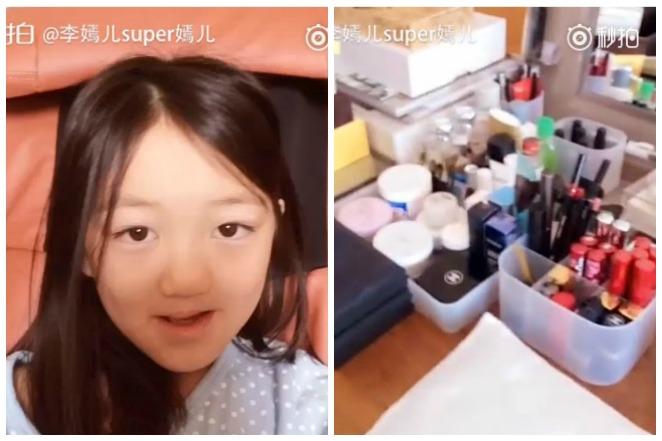 王菲9歲女迷自拍 網分享穿搭曝光媽梳妝台