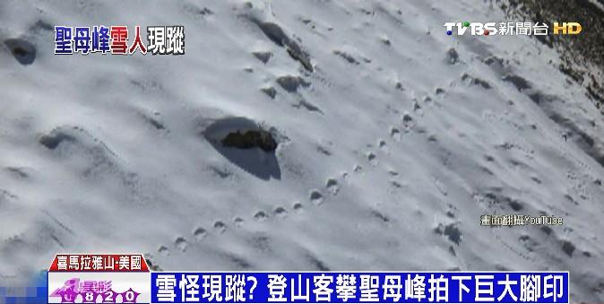 雪怪現蹤? 登山客攀聖母峰拍下巨大腳印