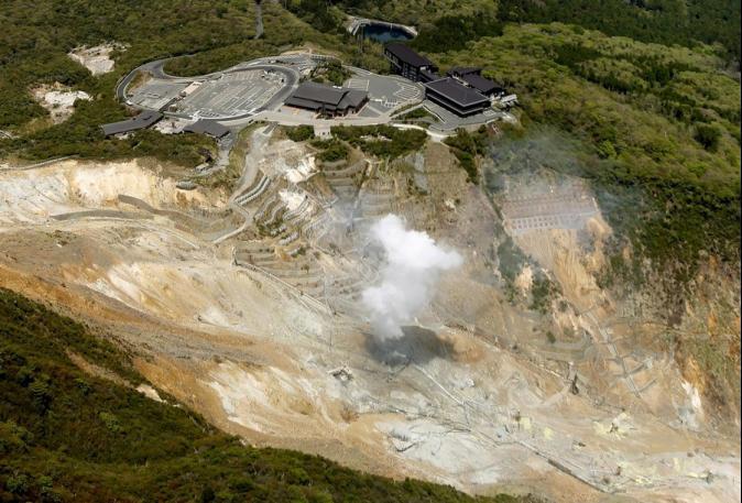 火山地震靠近岩漿 日箱根火山恐隨時爆