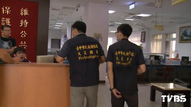 快訊/台中男子衝進派出所咆哮自焚 臉手燒傷
