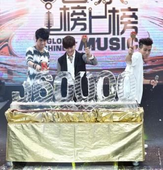 畢書盡、陳彥允、李玉璽打榜票數破56萬 首創謝票演唱會 全球中文音樂榜上榜 畢書盡 李玉璽1