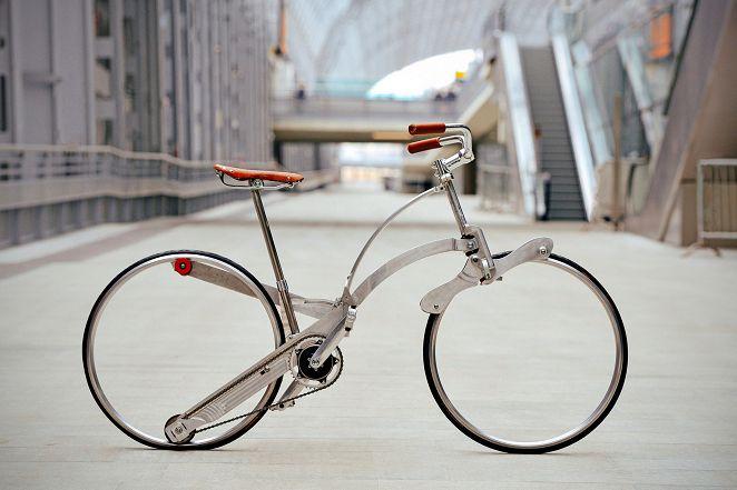 腳踏車講創新 「沙達單車」可摺進行李箱