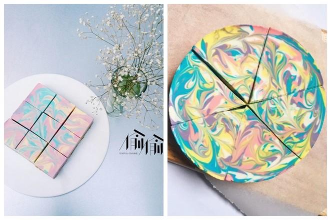 七彩旋風來襲!「彩虹乳酪蛋糕」百元價格好親民