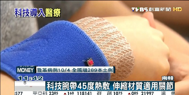 科技腕帶45度熱敷 伸縮材質適用關節