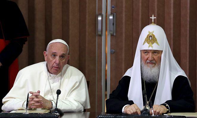 千年一會! 教宗方濟各、東正教主教長會面