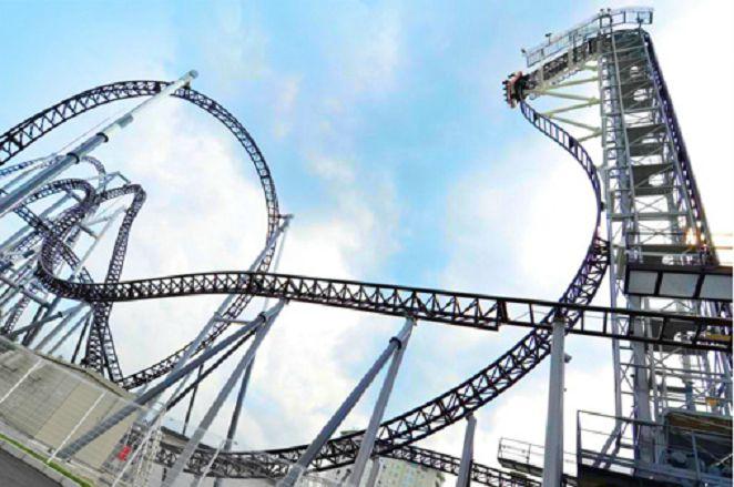 世界最陡雲霄飛車 俯衝前故障空中驚魂
